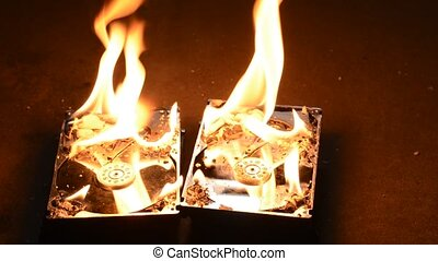 Burning hard disk drives - Burning two hard disk drives on...