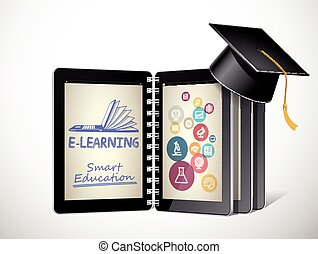 IT Communication - e-learning concept - internet network as...