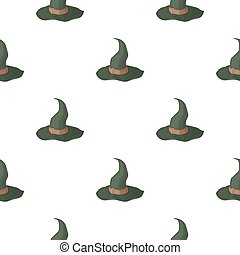 Witch s hat icon in cartoon style isolated on white...