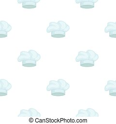 Chef s Hat icon in cartoon style isolated on white background. Hats symbol stock vector illustration.
