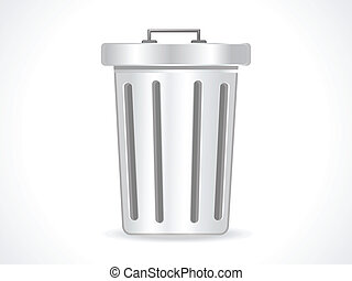 abstract glossy trash icon vector illustration