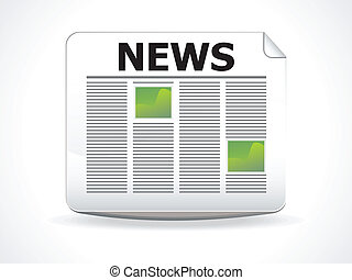 abstract glossy news icon vector illustration