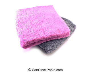 bath towel isolated on the background