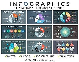 Vector circle arrows infographic set - Circle arrows diagram...