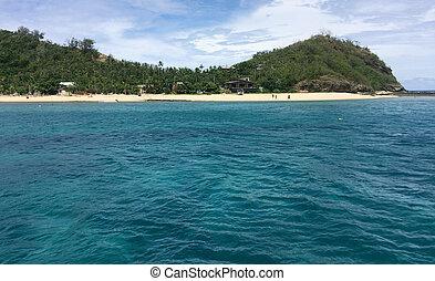 Landscape of one of  Mamanucas islands Fiji