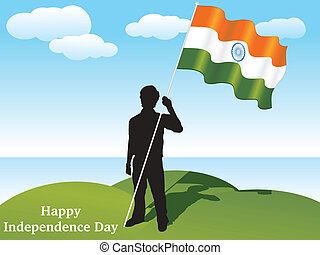 abstract independence day vector il