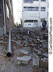 Christchurch earthquake 4 Sep 2010 - Image of part of a...
