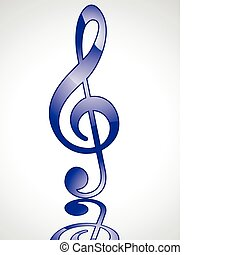 abstract blue glossy musical word v
