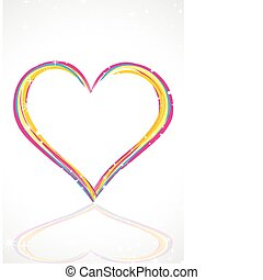 abstract colorful heart with stars