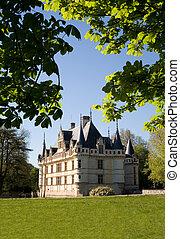Azay-le-rideau Castle from the garden in Loire Valley,...