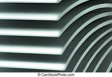 Abstract macro with a detail of a heatsink - Abstract macro...
