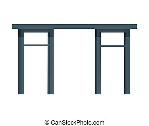 Table Vector Illustration in Flat Design - Table vector in...