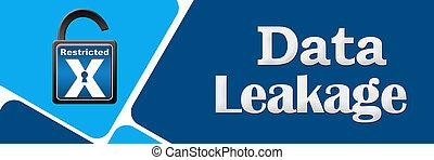 Data Leakage Opened Lock Rounded Squares - Data leakage...