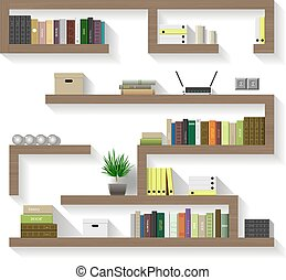 Wooden shelves for living - Wooden shelves for the living...
