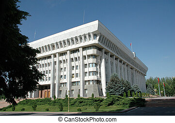 The White House of republic Kyrgyzstan Bishkek