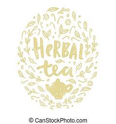 Herbal tea illustration.