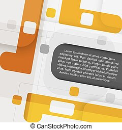 Abstract geometric vector background with place for your text.