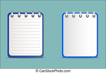 Set of notepads is blue in two variants