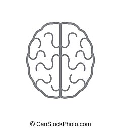 Brain icon. Vector illustration - Abstract human brain icon....