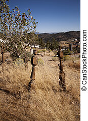 Old Western Cemetary - Old abandoned western gold rush...