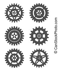 Gears icon set