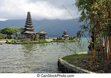 Pura Ulun Danu Bratan temple on the lake at Bedugul - Pura...