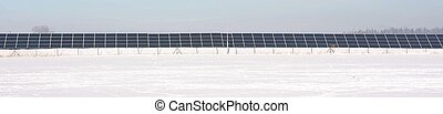 Solar power station - Photovoltaic panels of power station...
