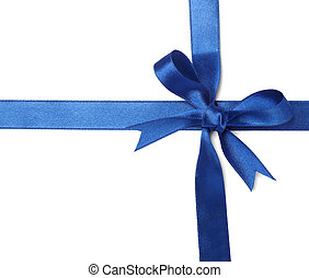 blue ribbon card note - close up of card note with blue...
