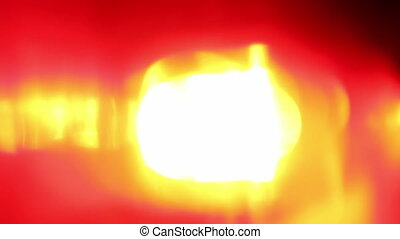 Flashing red LED light, extreme close-up
