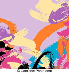abstract painting brush stroke pattern background, vector...