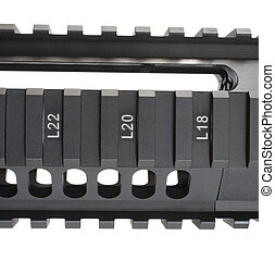 AR-15 Fore End - Front end of an AR-15 with rails that are...