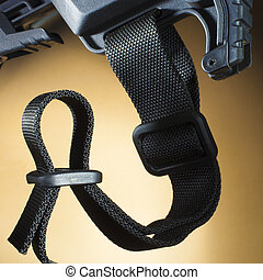 Sling - One inch nylon sling on the stock of a semi...