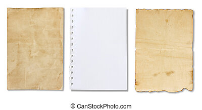 Sheet of Paper on a white background