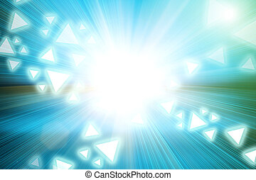 Abstract light and triangle shape on acceleration speed motion