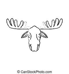 deer cartoon icon