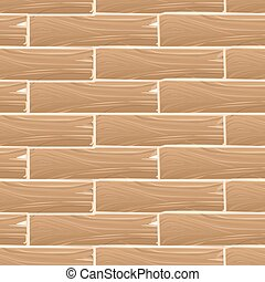 Wooden planks board vector seamless pattern. Wood vintage...