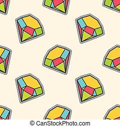 Colorful diamonds patch seamless pattern
