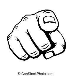 Hand with finger pointing vector illustration. Choosing...