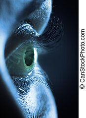 Macro on human female eye - Extreme close up on human female...
