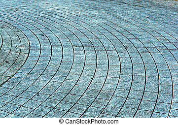 paving slabs in a circle, the path in the tiles, hill tiles...