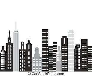 The city building - The city.Building vector.Skyscrapers in...