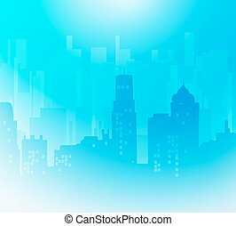 Vector Cityscape background - The city.Building...