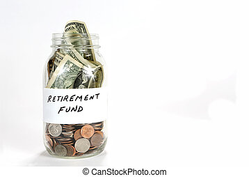 Retirement Fund Money Jar