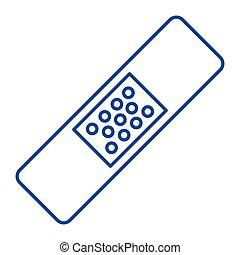 Bandage - Simple thinline bandage icon