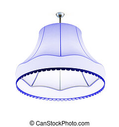 Lampshade isolated on white background. 3d rendering.
