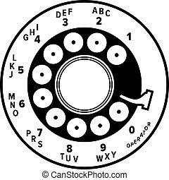 Phone disk dialer