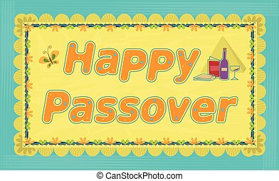 Passover Greeting Sign - Decorative Happy Passover sign....