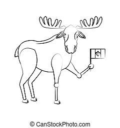 deer cartoon icon