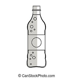 soft drink icon - soft drink bottle icon over white...