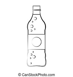 soft drink bottle icon over white background. vector...
